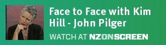 Face to Face with Kim Hill - John Pilger badge