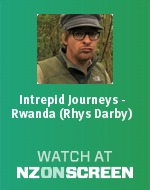Intrepid Journeys, Rwanda: Rhys Darby badge