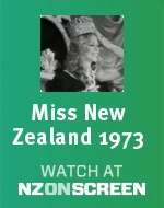 Miss New Zealand 1973 badge