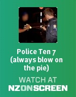 Police Ten 7 (always blow on the pie) badge