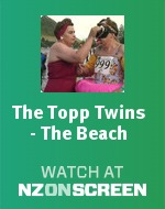 The Topp Twins - The Beach badge