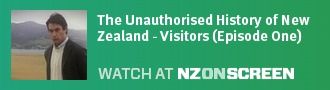 The Unauthorised History of New Zealand - Visitors (Episode One) badge