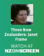 Three New Zealanders: Janet Frame badge
