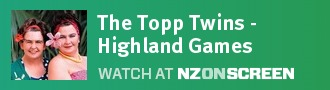 The Topp Twins - Highland Games badge