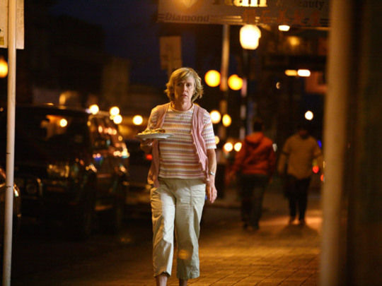 Jennifer ludlum  lorna  lorna marches down the street to bring barry his home cooked dinner.jpg.540x405