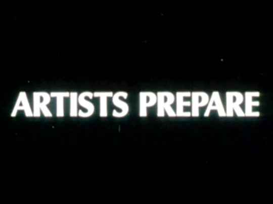 Thumbnail image for Artists Prepare