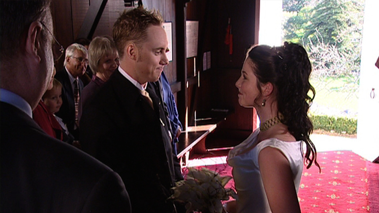 Hero image for Shortland Street - Nick and Waverley's wedding