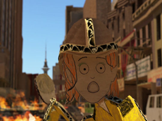 Thumbnail image for Fire in Cardboard City